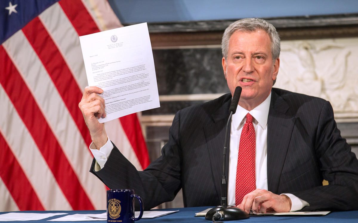 Mayor Bill de Blasio (Photo by William Farrington-Pool/Getty Images)