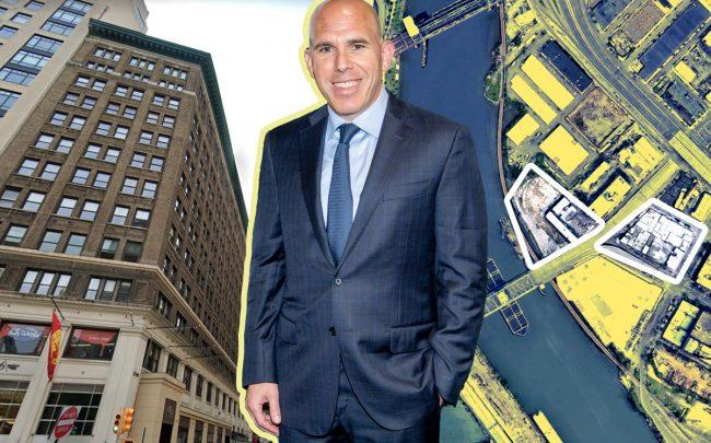 1115 Broadway, RXR Realty's Scott Rechler, 2413 Third Avenue and 9 Bruckner Boulevard in the Bronx (Credit: Getty Images; Google Maps)