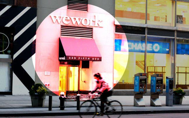 WeWork is facing backlash for its decision to stay open and charge membership fees, despite government measures to stop the spread of coronavirus. (Photo by Noam Galai/Getty Images)