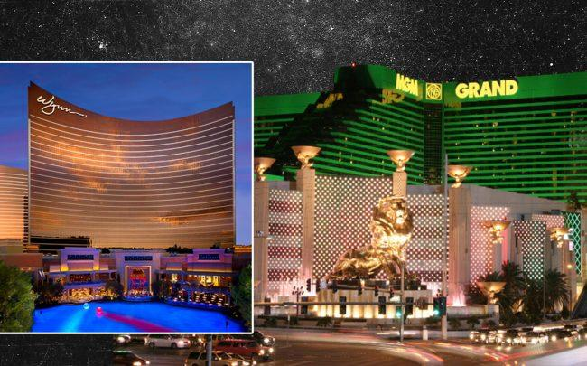 Wynn Resorts and MGM Resorts International in Las Vegas (Credit: Wynn; Nadavspi~commonswiki via Wikipedia Commons)