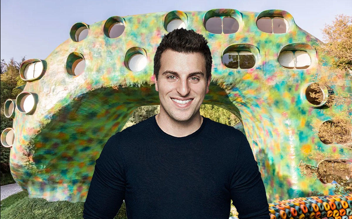 Airbnb CEO Brian Chesky and a Unique Airbnb Fund home (Credit: Airbnb)