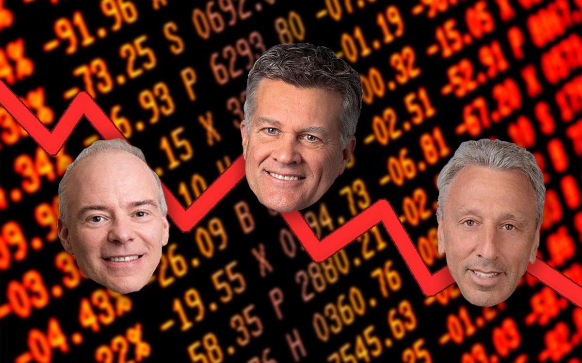 From left: Realogy's Ryan Schneider, Cushman & Wakefield's Brett White and Newmark Knight Frank's Barry Gosin (Credit: iStock)
