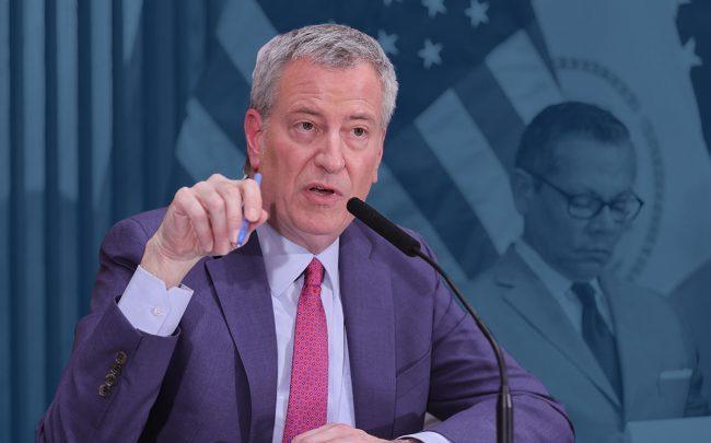 Mayor Bill de Blasio (Credit: EuropaNewswire/Gado/Getty Images)