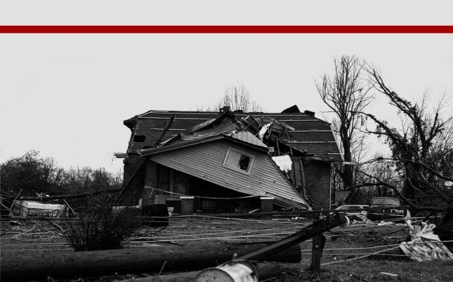 A home destroyed by the tornado in Cookeville, Tennessee (Credit: Brett Carlsen/Getty Images)