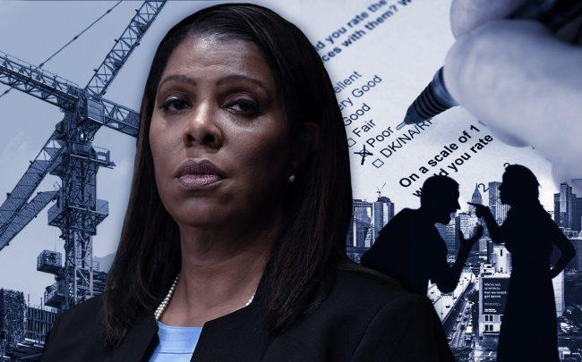 Letitia James (Credit:Timothy A. Clary/AFP via Getty Images, iStock, Pixabay)