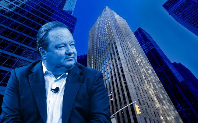 The Black Rock bulding at 51 West 52nd Street and Viacom CEO Bob Bakish (Credit: Google Maps, Getty Images)