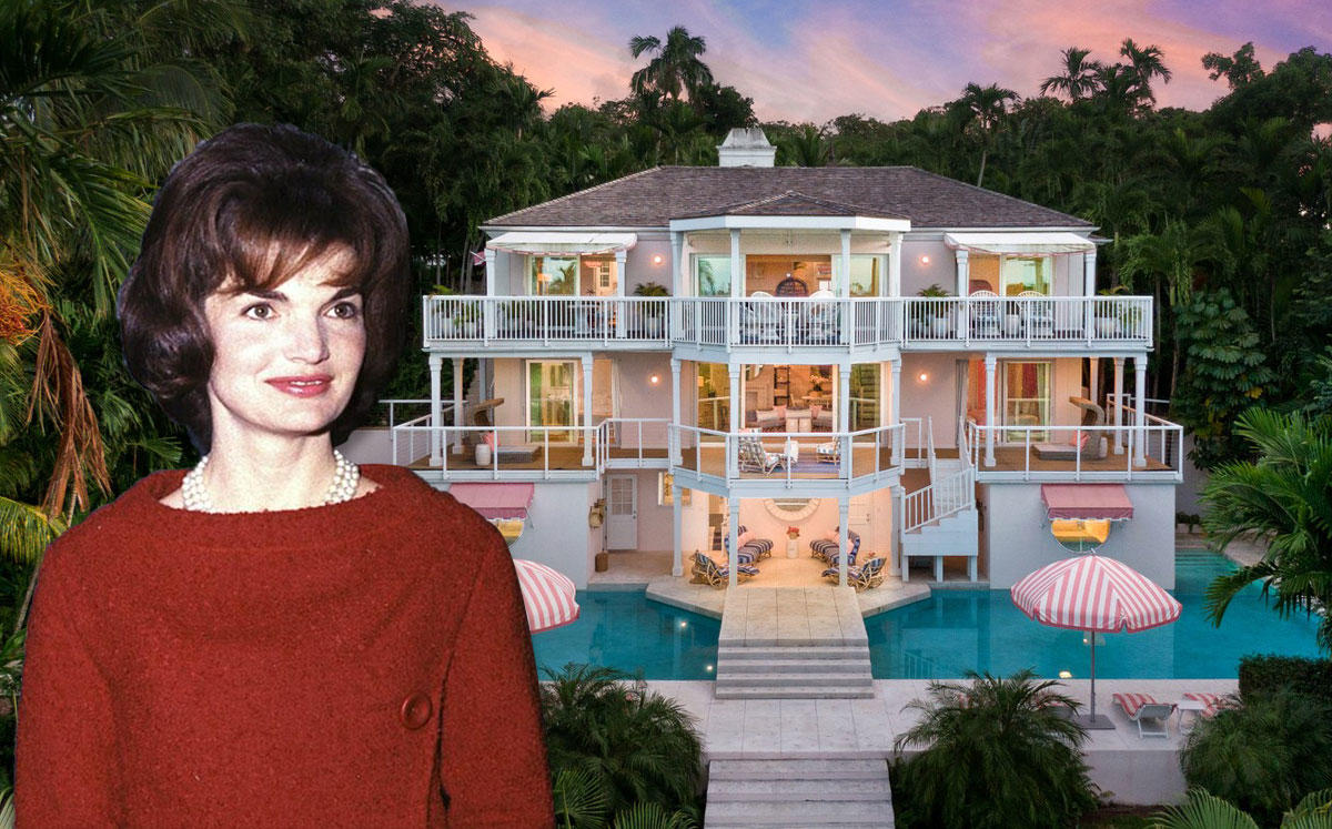 Jackie Kennedy Onassis and the Bahamas home