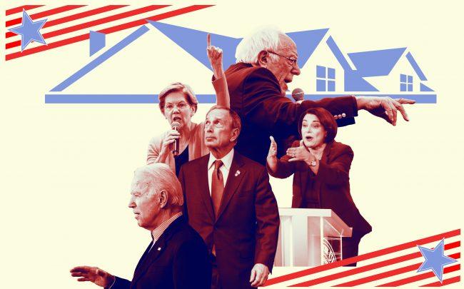 From left: Joe Biden, Elizabeth Warren, Michael Bloomberg, Bernie Sanders and Amy Klobuchar (Credit: Getty Images)