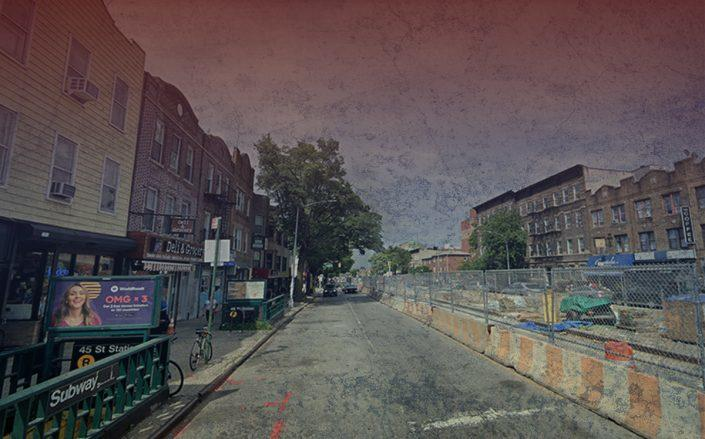 A deserted Brooklyn retail corridor along 4th Avenue in Park Slope (Credit: Google Maps)