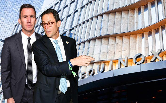 Equinox Executive Chairman & Managing Partner Harvey Spevak, Related Companies CEO Jeff Blau and Equinox at Hudson Yards (Credit: Spevak by Jamie McCarthy/Getty Images for Gabrielle's Angel Foundation, Blau by Craig Barritt/Getty Images for Related-Oxford, Matthew Peyton/Getty Images for Equinox)