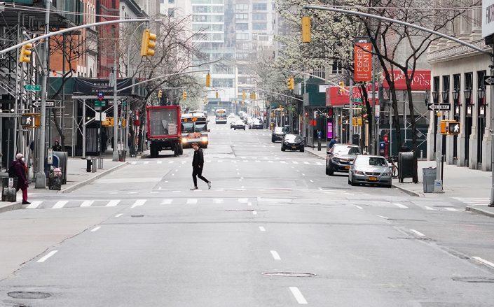 Park Avenue pictured on March 30, 2020 (Credit:John Nacion/NurPhoto via Getty Images)