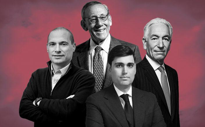 Douglas Eisenberg, Stephen Ross, Isaac Kassirer and Charles Kushner (Credit: Kushner by Sasha Maslov, Ross by Sean Zanni/Patrick McMullan via Getty Images)