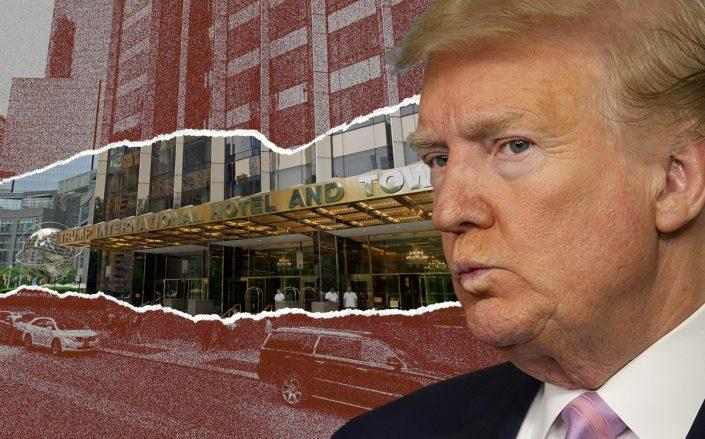Donald Trump and Trump International Hotel at 1 Central Park West (Credit: Alex Wong/Getty Images, iStock)
