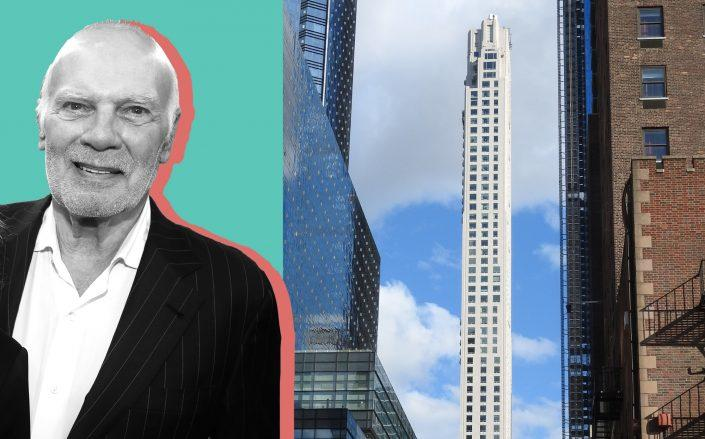 Vornado Realty Trust's Steven Roth and 220 Central Park South (Credit: Roth by Bruce Glikas/FilmMagic; Jim.henderson via Wikipedia Commons)