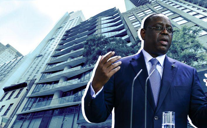 227-235 East 44th Street and Senegalese President Macky Sall (Credit: Google Maps; Sall by Abdulhamid Hosbas/Anadolu Agency via Getty Images)
