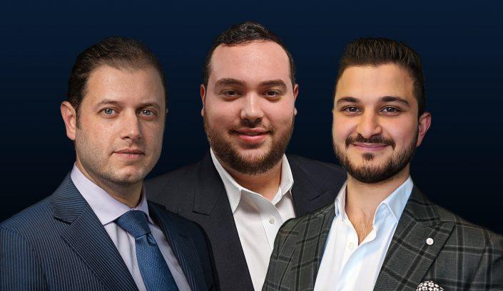 Tri State Commercial Realty's Shlomi Bagdadi, Dov Bleich and Avi Akiva