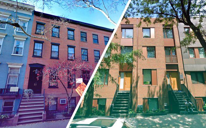 48 Sidney Place and 289 Union Street in Brooklyn (Credit: Google Maps)
