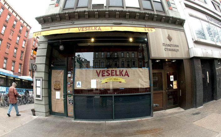 In New York City, Veselka closed due to the coronavirus COVID-19 pandemic. (Photo by Bill Tompkins/Getty Images)