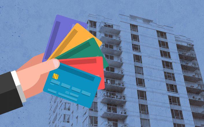 Many of the newly unemployed are relying on credit cards to make their April rent payments, and many landlords are covering transaction fees. (Credit: iStock)