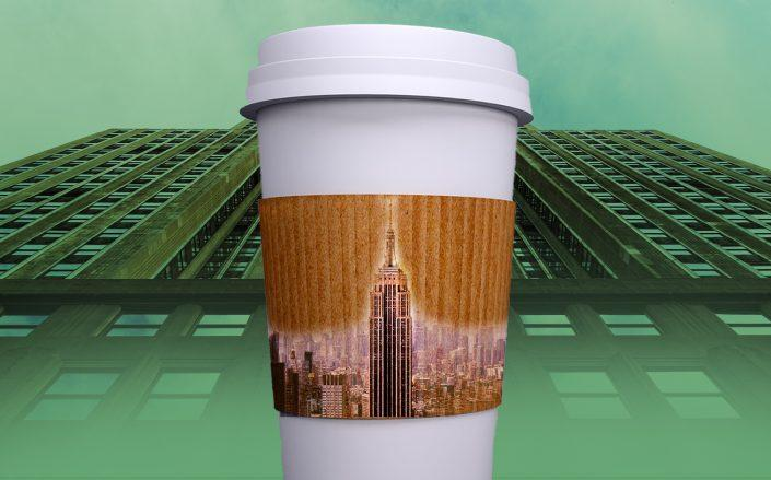 Starbucks is bringing a high-concept store to a giant triplex at the base of the Empire State Building (Illustration by The Real Deal)