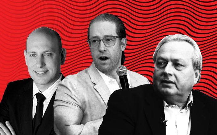The Durt Organization's Jordan Barowitz, Slate Property Group's David Schwartz and Rent Stabilization Association President Joseph Strasburg (Illustration by The Real Deal)