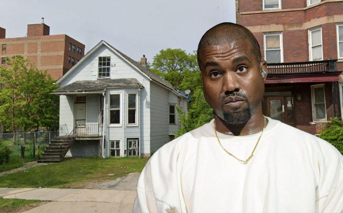 Kanye West and 7815 S. South Shore Drive (Credit: Google Maps and Scott Dudelson/FilmMagic/Getty Images)