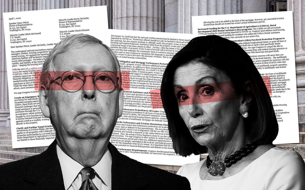 Mitch McConnell and Nancy Pelosi (Credit: Samuel Corum/Getty Images and Andrew Caballero-Reynolds/AFP via Getty Images)