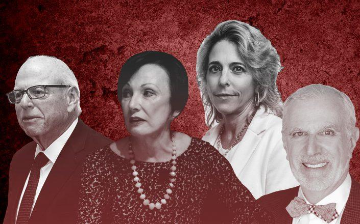 From left: Douglas Elliman's Howard Lorber, Halstead's Diane Ramirez, Corcoran's Pam Liebman and Warburg Realty's Frederick Peters (Illustration by The Real Deal)