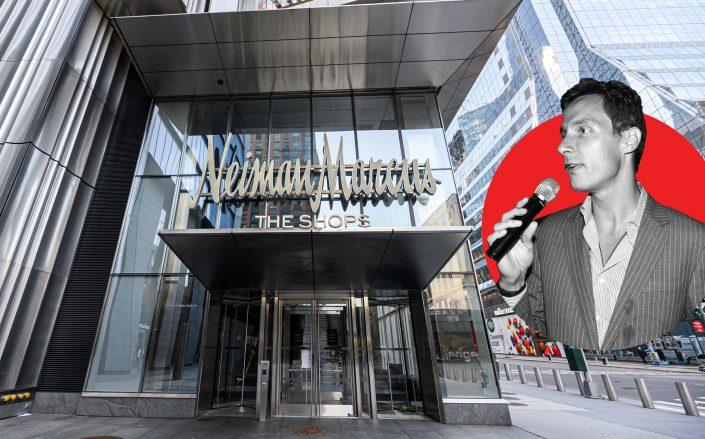 Neiman Marcus at Hudson Yards in New York and Neiman Marcus CEO Geoffroy van Raemdonck (Credit: Neiman Marcus by Noam Galai/Getty Images; van Raemdonck by JOE SCHILDHORN/Patrick McMullan via Getty Images )