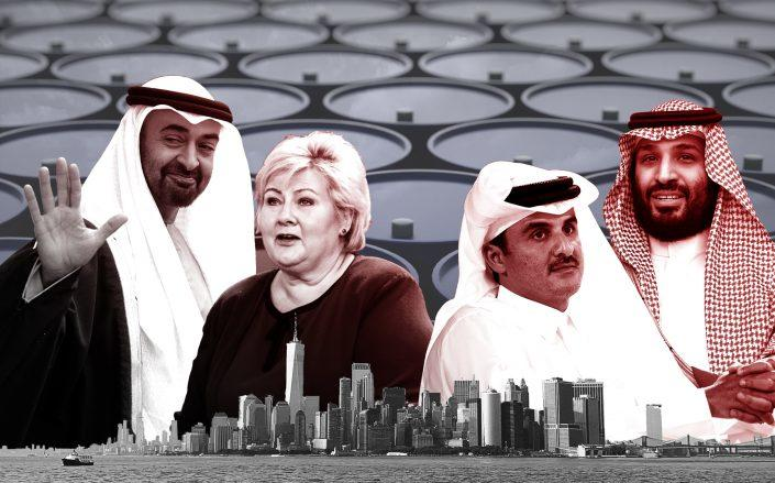 From left: Mohammad Bin Zayed, Erna Solberg, Tamim Bin Hamad Al Thani and Mohammad Bin Salman (Credit: liewig christian/Corbis; Christian Marquardt/NurPhoto; Quality Sport Images/Getty Images; MANDEL NGAN/AFP via Getty Images)