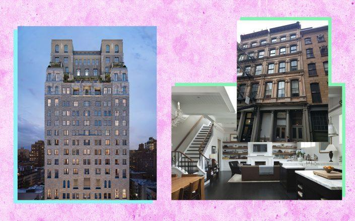 301 East 80th Street and the penthouse at 112 Franklin Street (Credit: Beckford Tower and Atelier)