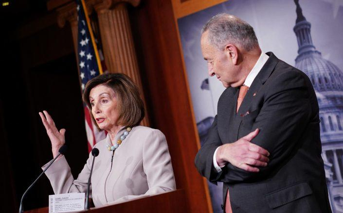 House Speaker Nancy Pelosi and Senate Minority Leader Charles Schumer (Photo by MANDEL NGAN/AFP via Getty Images)