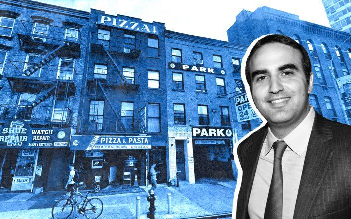 Rockrose Development President Justin Elghanayan and 98 DeKalb Avenue in Brooklyn