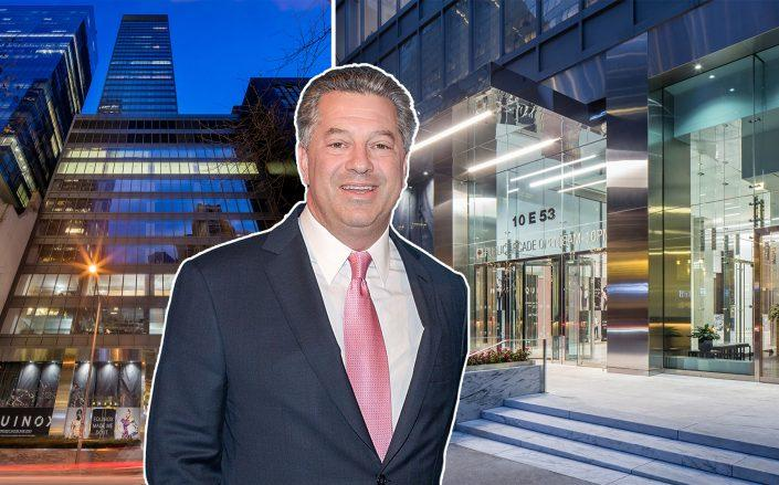 10 East 53rd Street and SL Green's Marc Holliday (Credit: TPG Architecture, Holliday by Grant Lamos IV/Getty Images)