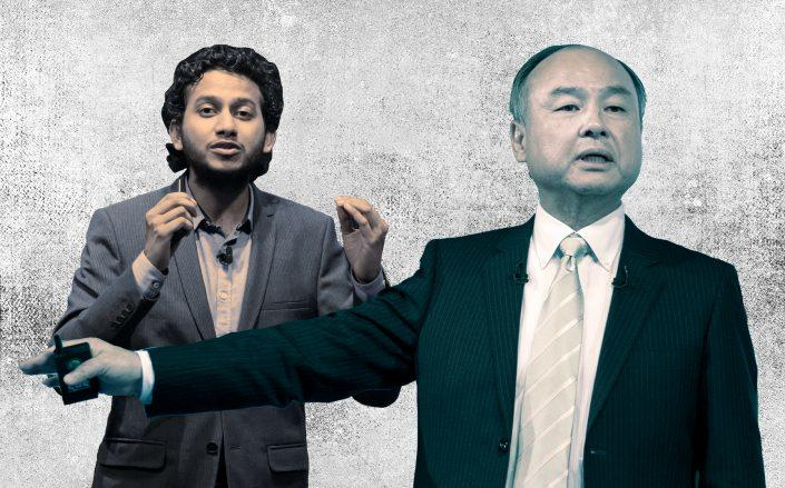 Oyo CEO Ritesh Agarwal and Softbank CEO Masayoshi Son (Credit: Getty Images)