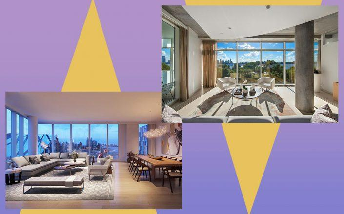 the 2 Waterline Square condo and 173 Perry Street #4N (Credit: Corcoran, Realtor)