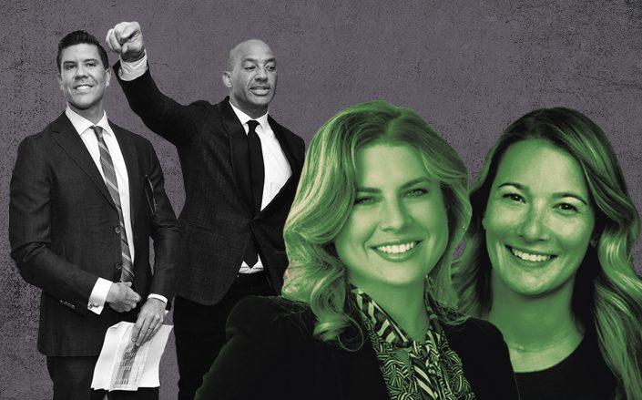 From left: Fredrik Eklund, John Gomes, Jessica Peter and Monica Breese (Credit: Eklund & Gomes by Sean Zanni/Patrick McMullan via Getty Images, Elliman, iStock)