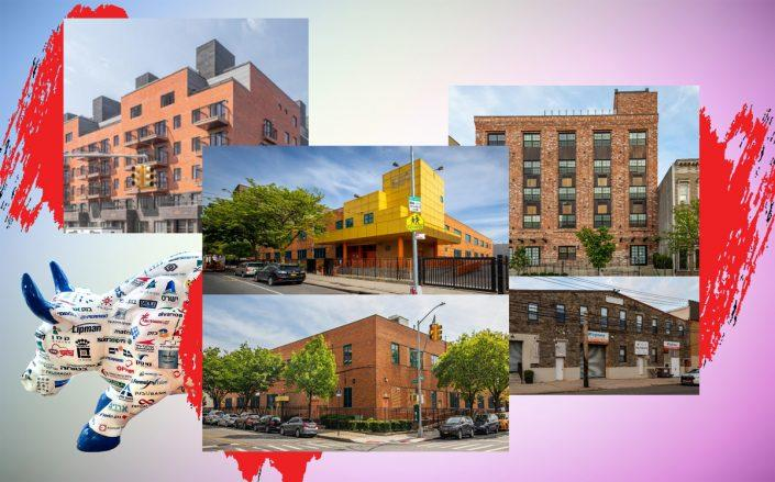 From left: Mapleton Rentals at at 1555-1575 61st Street in Mapleton, 1440 Story Avenue in Soundview, Beard-Van Brunt at 411 Van Brunt Street in Red Hook