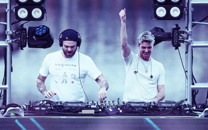 The Chainsmokers' Alex Pall and Drew Taggart (Photo by David Rosenblum/Icon Sportswire via Getty Images)