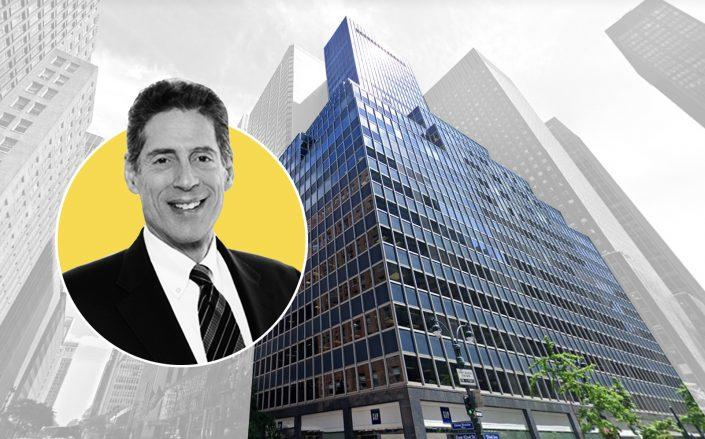 The Durst Organization president Jonathan Durst and 655 Third Avenue (Google Maps)