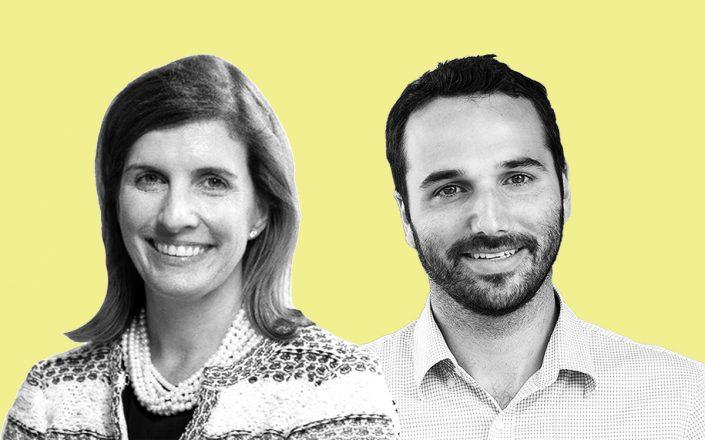 Industrious' Mary Hogan Preusse and CEO Jamie Hodari (Twitter)