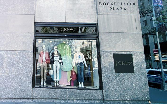 A J. Crew storefront in New York (Photo by Rob Kim/Getty Images)