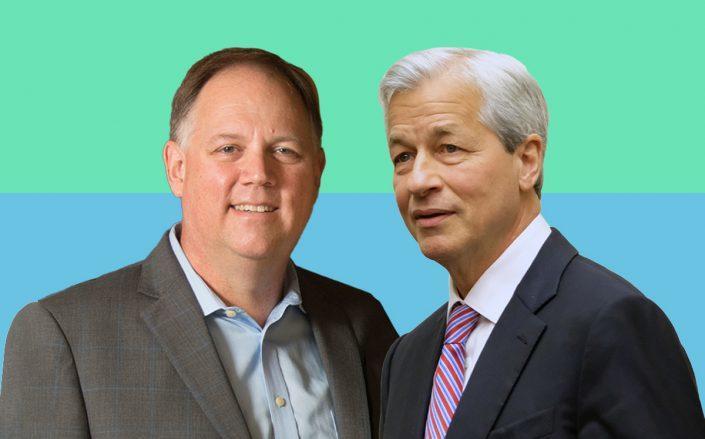 American Homes 4 Rent CEO David Singelyn and JPMorgan CEO Jamie Dimon (Credit: Singelyn via Cal Poly Pomona; Dimon via Alex Wroblewski/Getty Images)