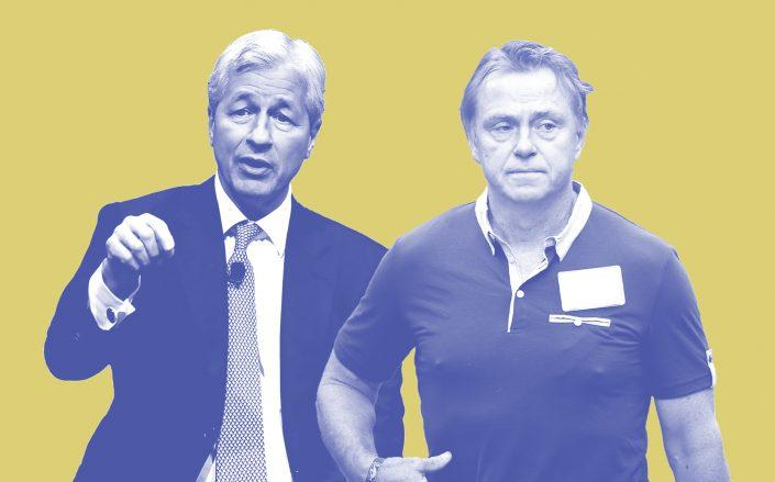 JPMorgan Chase's Jamie Dimon and Fortress Investment Group's Wes Edens (Dimon via Mark Wilson/Getty Images; Edens via Scott Olson/Getty Images)