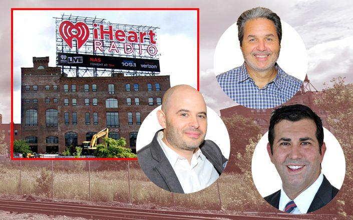 Joy Construction's Eli Weiss (left), Maddd Equities' Jorge Madruga (top), and Drew Katz with 20 Bruckner Boulevard in the Bronx (Getty; Google Maps)