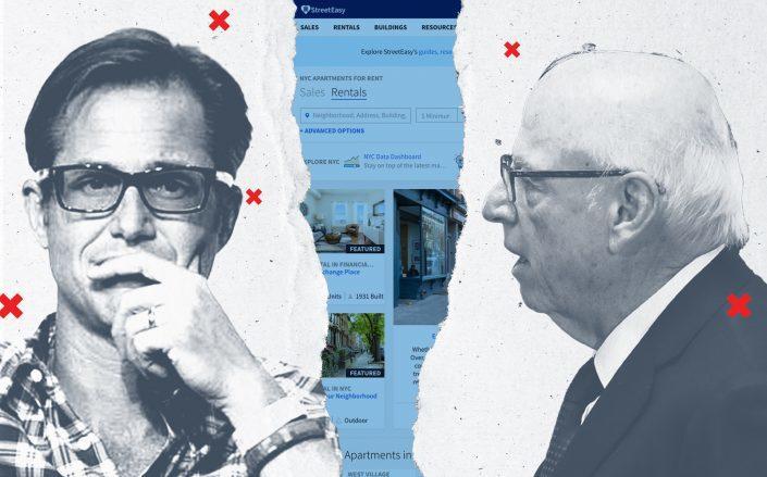 Zillow CEO Richard Barton and Douglas Elliman chairman Howard Lorber (Getty, JD Lasica via Flickr)