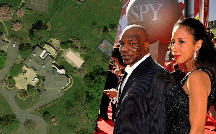 A Maryland home formerly owned by Mike Tyson and ex-wife Monica Turner is on the market for $8.5M. The home overlooks the Congressional Country Club, which has hosted U.S. Open golf tournaments. (Getty; Google)
