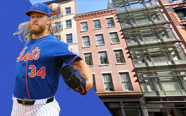 Noah Syndergaard and 116 Hudson Street (Getty, Google Maps)