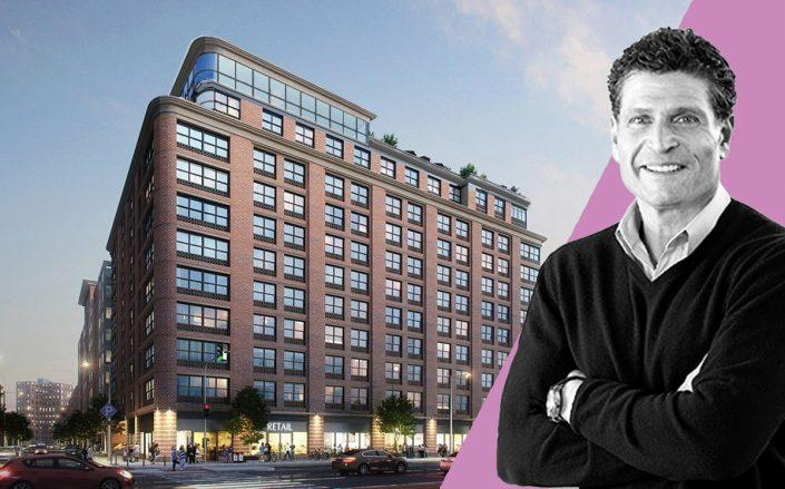 A rendering of 1998 Second Avenue in Harlem andPeter Fine (Credit:GF55 Architects)
