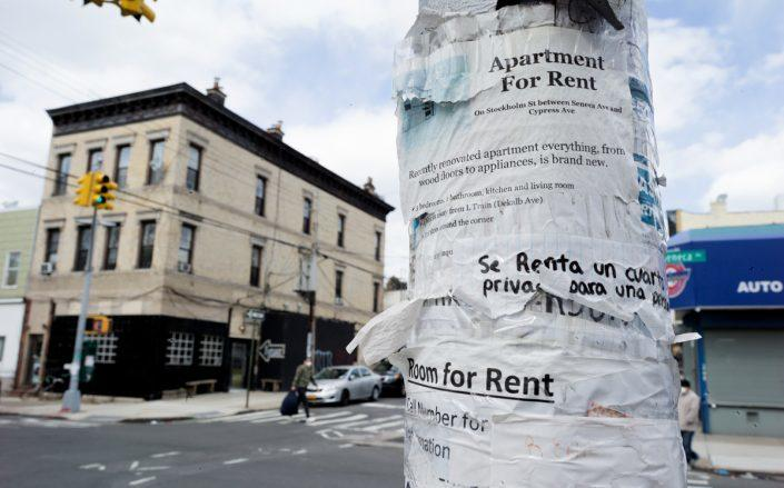 """The United States' housing policy response to the coronavirus crisis has """"significant gaps"""" that leave most renters vulnerable (Photo by Andrew Lichtenstein/Corbis via Getty Images)"""